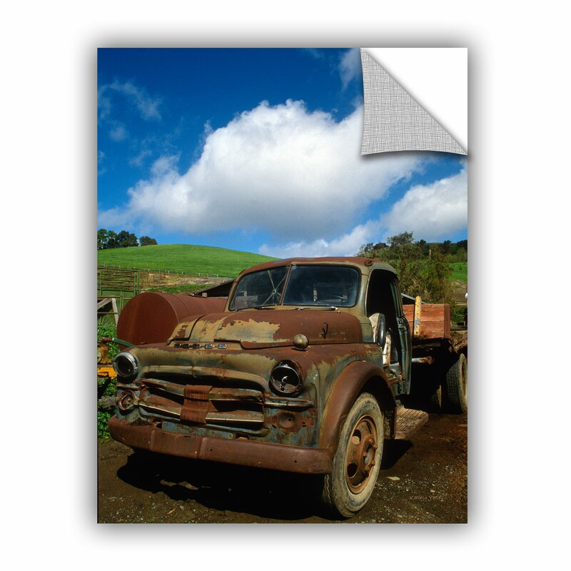 Artwall Old Truck By Kathy Yates Photographic Print Removable Wall Decal Wayfair