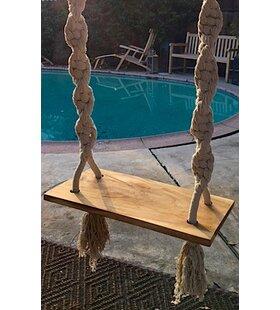 Teak Hand Knotted Porch Swing by IKsunTeak