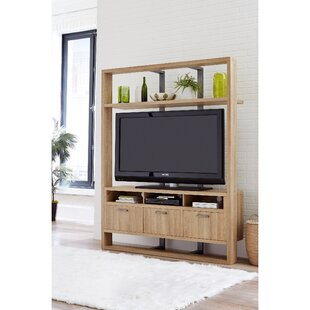 Burr Wooden Entertainment Center for TVs up to 65