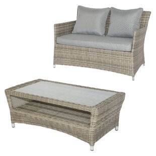Best Malge 2 Seater Rattan Sofa Set