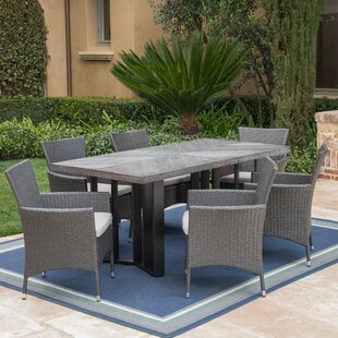 Ortonville Outdoor 7 Piece Dining Set with Cushions by Gracie Oaks