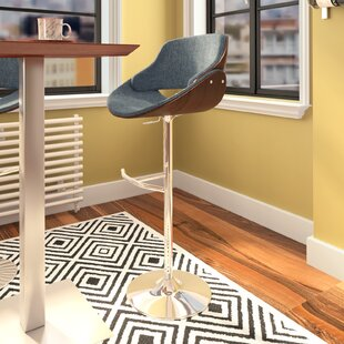 Aird Adjustable Height Swivel Bar Stool b..
