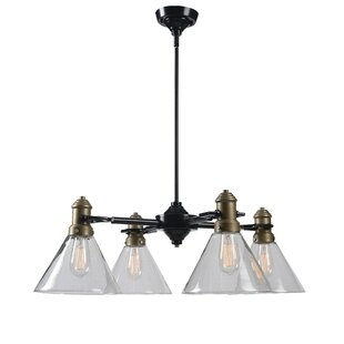 Price comparison Jae 4-Light Shaded Chandelier By Williston Forge