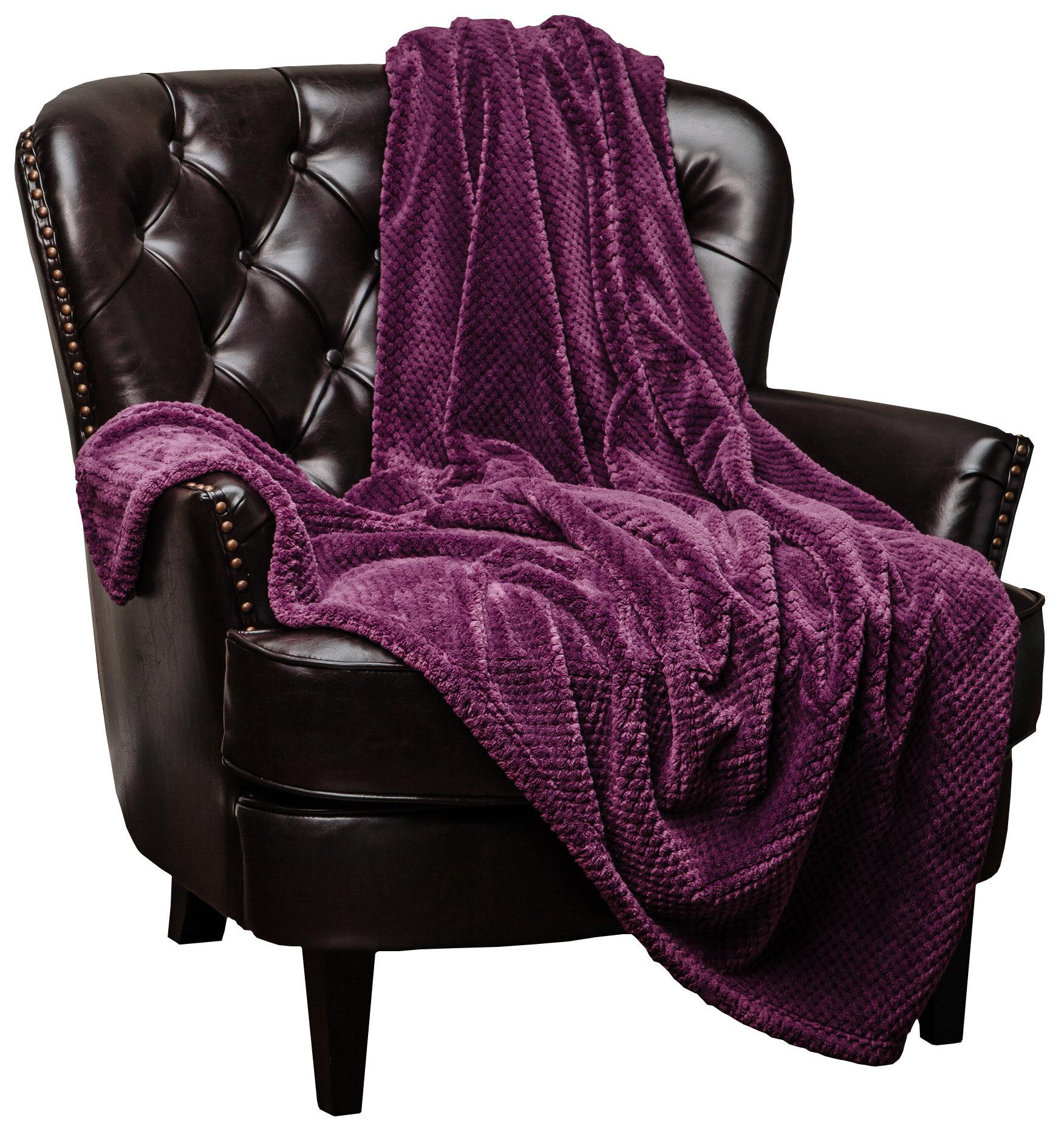 f4ce16fb00 Chanasya Super Soft Warm Elegant Cozy and Decorative Velvet Fleece Throw  Blanket   Reviews
