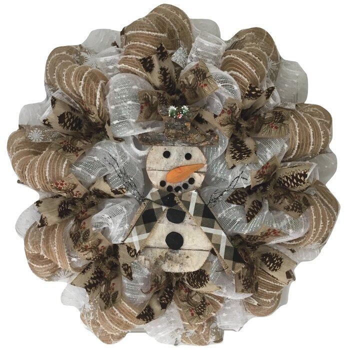 Woodland Snowman Handmade 24