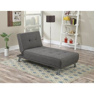 Wrought Studio Sunseri Modern Living Room Adjustable Reclining Chaise Lounge with Cushion