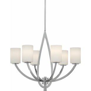 Ebern Designs Mcphearson 6-Light Shaded Chandelier