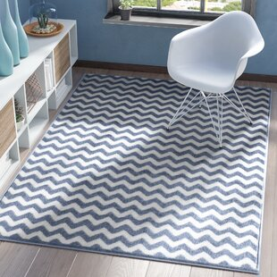 Best Quesinberry Chevron Light Blue White Area Rug By Wrought Studio Entry Mudroom Furniture