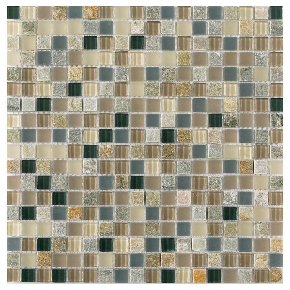 Long Island Mosaics Tile Victory 1 X 1 Glass Grid Mosaic Tile Wayfair