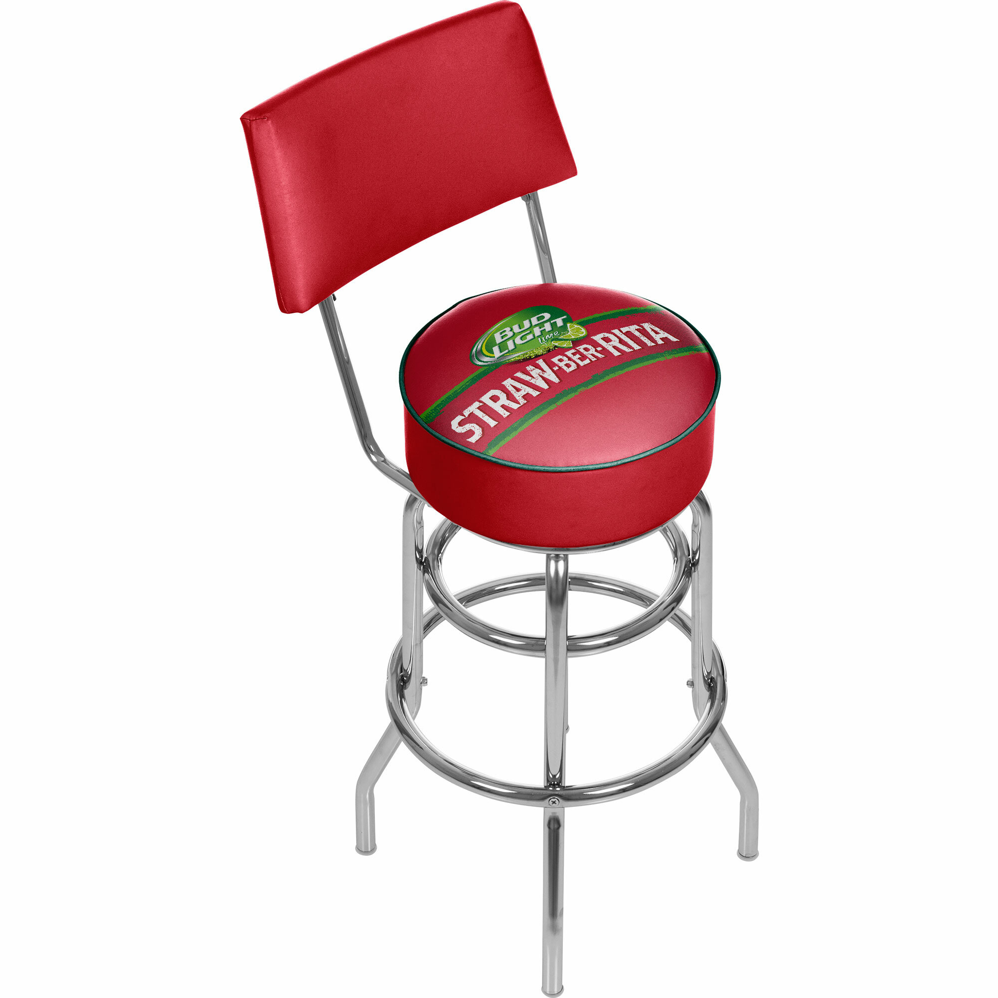Trademark Gameroom Bud Light Straw-BER-Rita Padded Swivel Bar Stool