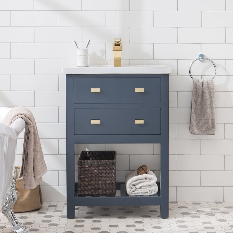 Zipcode Design Knighten Modern 24 Quot Single Bathroom Vanity