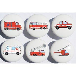 Fire Truck Appliance Pull (Set of 6)