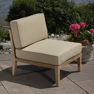 Madbury Road Bali Teak Patio Chair with C..