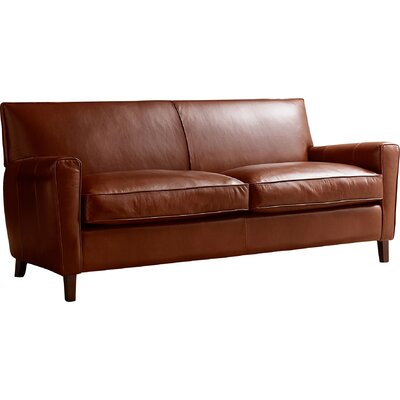 Foster Leather Sofa Allmodern Custom Upholstery Body Fabric