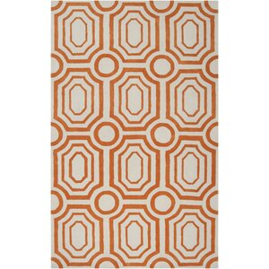 Dryden Hand-Woven Orange Area Rug