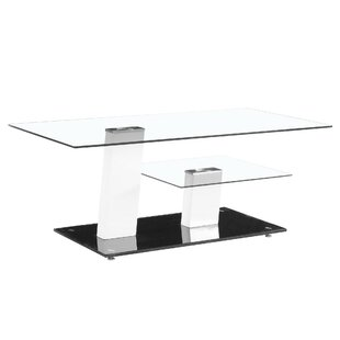 Fab Glass and Mirror Contemporary Coffee Table