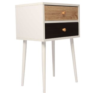 Marjorie 2  Drawer Nightstand in White by George Oliver