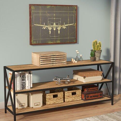 Augustus Media Etagere Bookcase | Küche und Esszimmer > Aufbewahrung | Grau/ schwarz | LoftDesigns