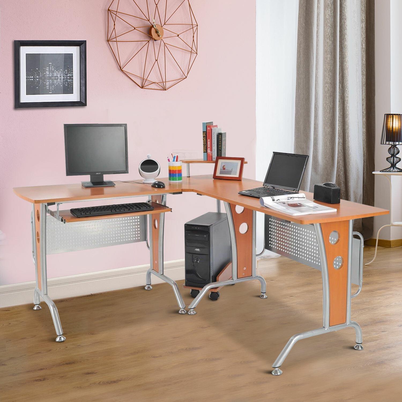 Picture of: Ebern Designs Hillsborough Modern L Shaped Desk Reviews Wayfair