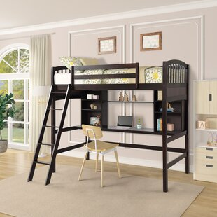 Whittemore Twin Loft Bed with Shelves by Harriet Bee