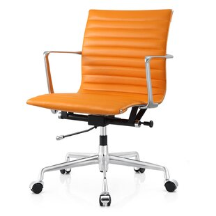 Aniline leather Office Chair  sc 1 st  Wayfair & Orange Office Chairs Youu0027ll Love | Wayfair