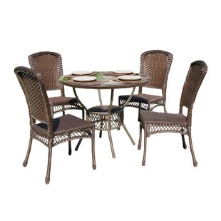 Audrey Casual Outdoor 5 Piece Dining Set