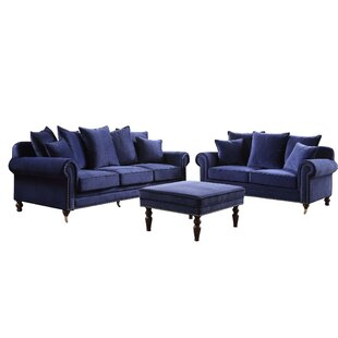 Hampton 3 Piece Sofa Set By Rosalind Wheeler