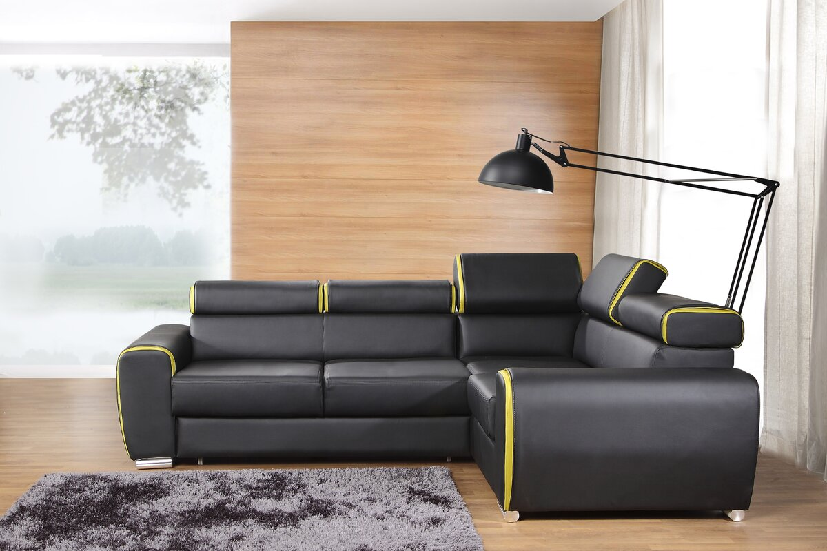 home haus ecksofa blanco mit bettfunktion. Black Bedroom Furniture Sets. Home Design Ideas