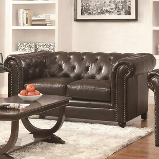 Shop Wharton Leather Loveseat by Canora Grey