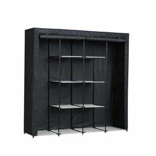 Mcateer Wardrobe Nomade 70 - Tubular Metal Structure - W 174 X D 46 X H 169 Cm - Black By Rebrilliant