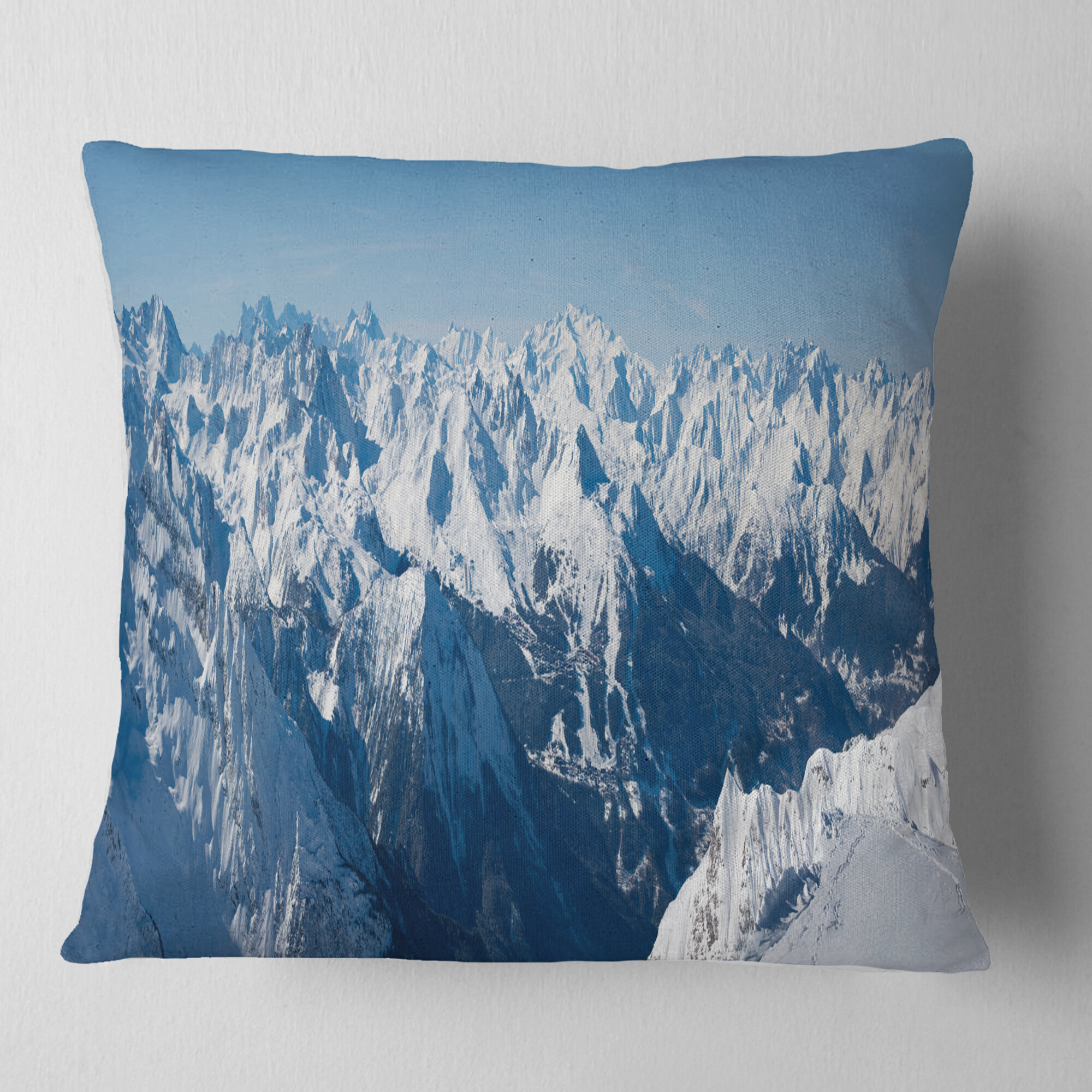 East Urban Home Photography French Alps Panorama Pillow Wayfair