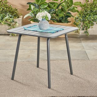 Harrigan Outdoor Iron Dining Table