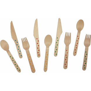 Find for Birchwood Stars Print 100 Piece Flatware Set- Service for 25 Inexpensive