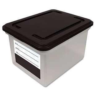 Innovative Storage Designs File Tote Storage Box With Snap On Lid Closure,  Letter/Legal