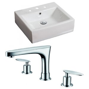 Rectangular Vessel Bathroom Sink with Overflow American Imaginations