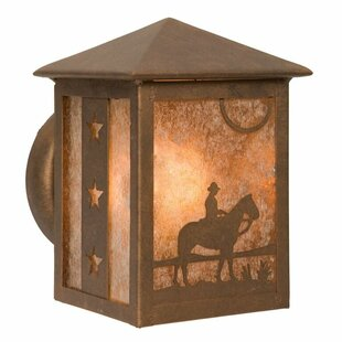 Cowboy Sunset 1-Light Outdoor Sconce by Steel Partners