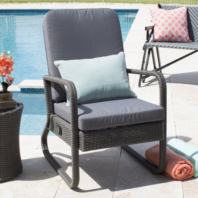 Harding Outdoor Recliner Chair with Cushions & Red Barrel Studio Harding Outdoor Recliner Chair with Cushions ... islam-shia.org