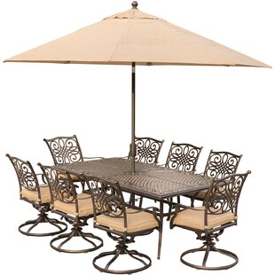 Carleton 9 Piece Dining Set with Cushions