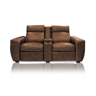 Signature Series Paris Leather Home Theater Row Seating (Row Of 2) By Bass