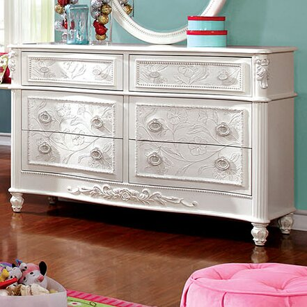 A J Homes Studio Henrietta 6 Drawer Double Dresser Reviews Wayfair