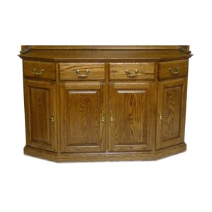 Angled China Cabinet Base by Forest Designs