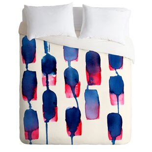 East Urban Home Color Run Duvet Cover Set