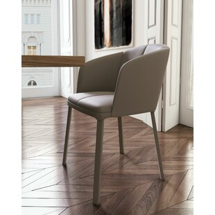 Thadine Genuine Leather Upholstered Dining Chair Orren Ellis
