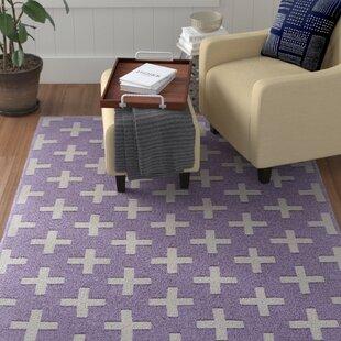 Deals Kobayashi Purple/White Area Rug ByWinston Porter