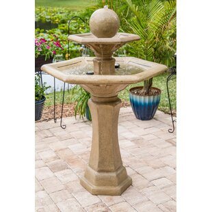 Wildon Home ® Monaco Resin Outdoor Floor Fountain