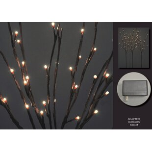 The Holiday Aisle Floral 96 Light Willow Branch (Set of 3)