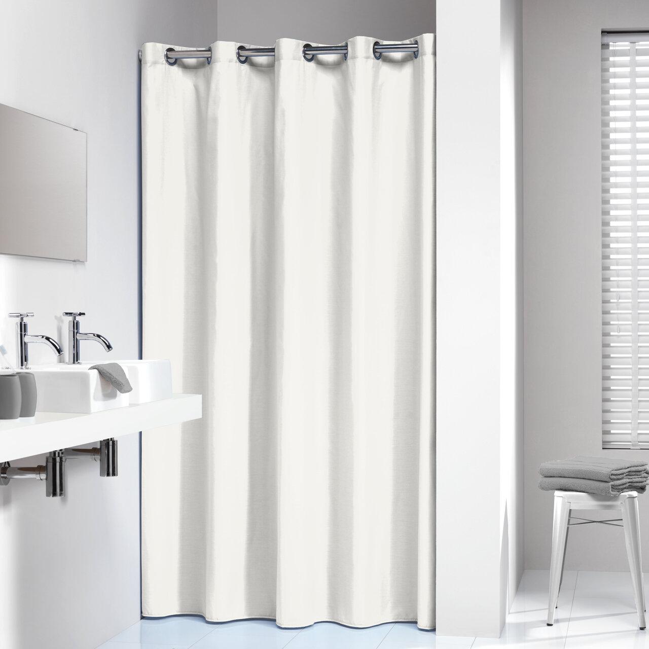 Wade Logan Jethro Solid Shower Curtain   Wayfair