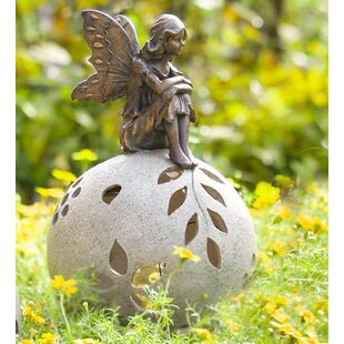 Thinking Fairy Solar Light Garden Statue