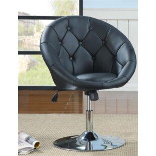 Warnell Swivel Barrel Chair by Orren Ellis
