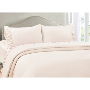 Jasmine Ruffle Hem Ultra Soft Solid color Sheet Set